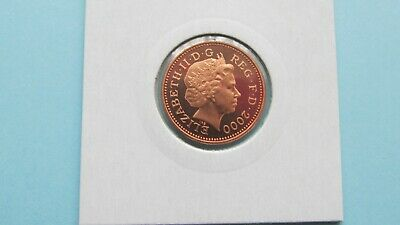 2000 Proof 1p One Pence Coin  - From Royal Mint Year Set FREE P&P (MM19)