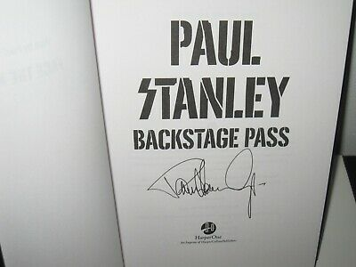 Paul Stanley Signed Backstage Pass Book Kiss Gene Simmons Rock Autograph Proof