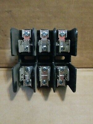 GOULD SHAWMUT 60318SJ 30 AMP 600V 3 Pole Screw Terminal Class J Fuse Block