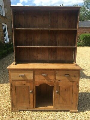 Lovely Antique Victorian Pine Dresser with Drawers