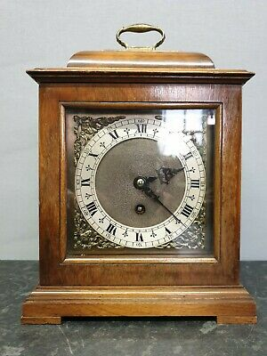 Quality English Vintage Walnut 8 Day Mantle Clock