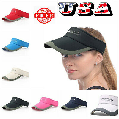 Adjustable Tennis Sports Cap Sun Visor Golf Hat Headband Hat Vizor