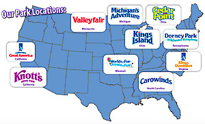 4 tickets to any Cedar Fair Theme Park: Cedar Point, Knotts Berry Farm + more