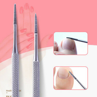 1pcs double ended pedicure file satin edge ingrown toe nail lifter@& KK