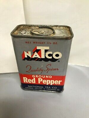 VINTAGE LOT 2 Spice Metal Containers NaTco National Tea