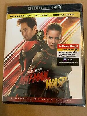 ANT-MAN AND THE WASP (4K UHD + Blu Ray + Digital) ***SEALED** *FAST SHIPPING*