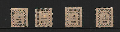 Lithuania 4 Mint Stamps