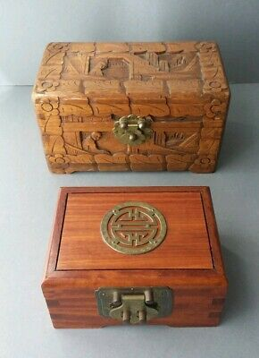 Vintage Chinese Wood Boxes.