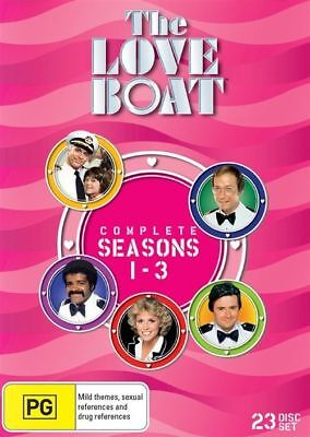 The LOVE BOAT Complete Seasons 1-3 DVD TV SERIES 23-DISCS GIFT BOX BRAND NEW R4