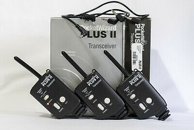 Disparadores PocketWizard transceiverr Plus II