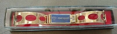 Vintage Rowi Sport Gold Plated Rally Style Watch Bracelet. Made in Germany !