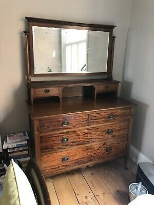 Antique Edwardian, Mahogany Dressing Table/Chest of drawers