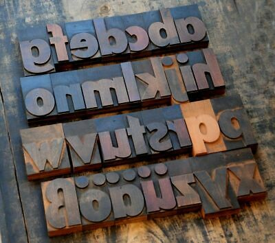 "A-Z alphabet 3.54"" letterpress wooden printing blocks wood type Vintage Print"