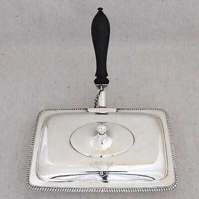 Antique Georgian Sterling Silver Toasted Cheese Warmer Dish John Schofield 1794