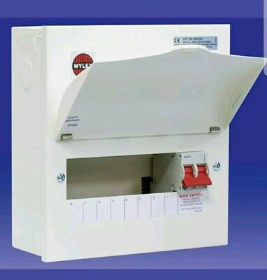 8 Way Wylex Consumer Unit With 100amp Main Switch Fully Metal Clad