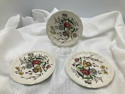 Copeland Spode Gainsborough Set of 3 Bread/Butter plates pre-owned