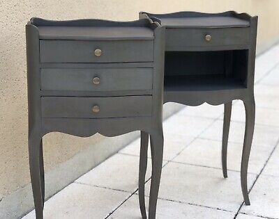 Vintage French Louis XV Style Cabinets Bedside Tables Nightstands