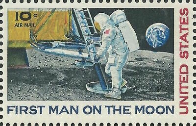 1969 APOLLO 11 FIRST MAN ON THE MOON Neil Armstrong 50th Anniversary ERROR Stamp