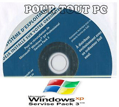 CD Neuf Original Windows XP pro SP3 en Français  + Clé d'activation authentique