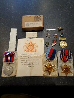 Ww2 medals boxed with Russian pin badges.