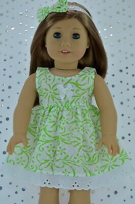 """Doll Clothes For 18"""" American Girl~Our Generation~Journey FLORAL DRESS~HEADBAND"""