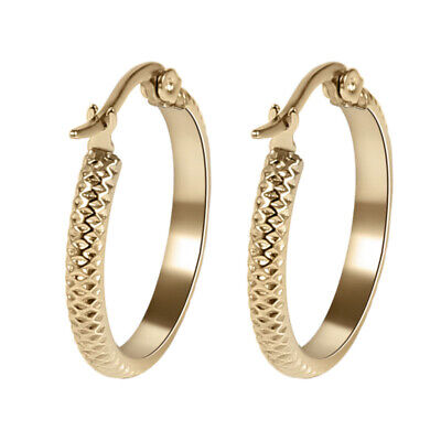 Yellow Gold Plated Stainless Steel Fashion Round Women Cute Small Hoop Earrings