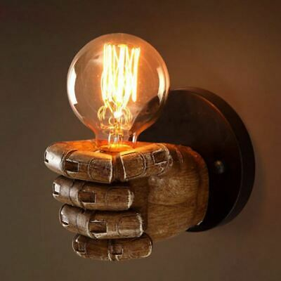 3X(Retro right hand fist resin wall lamp Loft industrial wind decoration ant R2)
