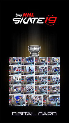 2019 ROAD TO THE STANLEY CUP COMPLETE SET OF 19 CARDS  NHL Skate Digital Card