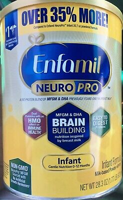 2-Sealed Enfamil NeuroPro Infant Baby Formula, 28.3oz Expiration Date:10/01/2020