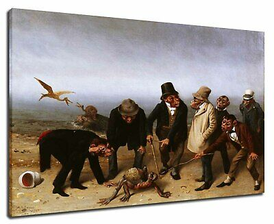 William Holbrook Beard - The Discovery Of Adam 1891 Poster Canvas Print 7