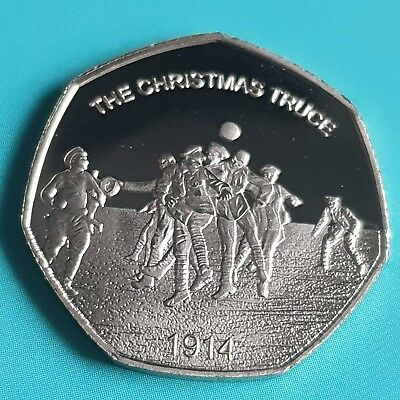 2018 Christmas Truce Commemorative Coin Album/50P Fifty Pence Collectors