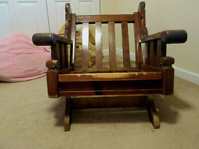 Antique Pure Wooden Tenon Struction Craft Sofa Rocking Chair--(Pick up only)