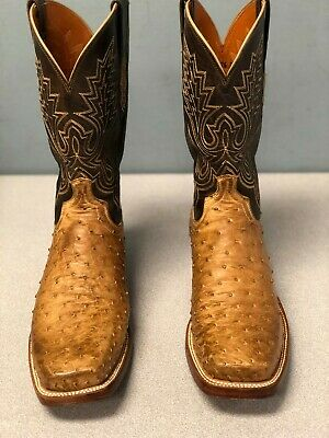 b1810647a76 LUCCHESE 2000 FULL Quill OSTRICH Leather 62781 Tan ROPER COWBOY ...