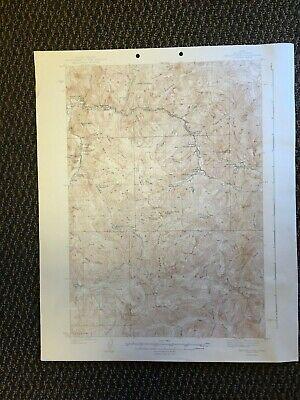 Vintage USGS Yellow Pine Idaho 1943 Topographic Map Valley County