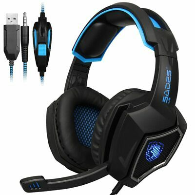 3X(SADES L9 PS4 gaming Headset computer headphones stereo with mic 3.5mm jac J8)