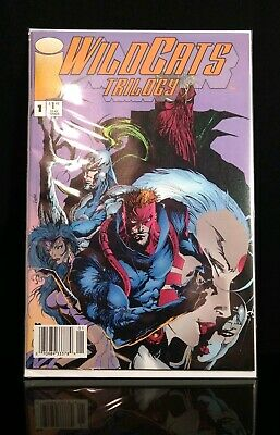 Wildcats Trilogy #1 Newsstand Variant Extremely Rare Image Comics Jim Lee VF/NM