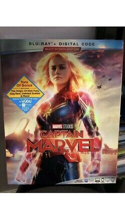 Captain Marvel (Blu-Ray+Digital) New/Factory Sealed With slipcover