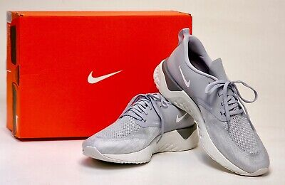 NIKE ODYSSEY REACT 2 FLYKNIT - Color: Wolf Gray / White Platinum - Men's 11.5