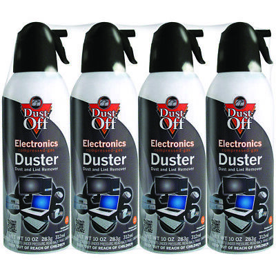 Dust-Off DPSXL4A 10oz Compressed Air Electronics Dusters Pack of 4