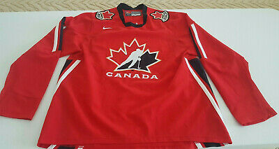 Nike Canada National Team Ice Hockey Vintage Jersey Size Large All Sewn Patches