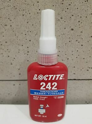 LOCTITE 242 Medium strength, medium viscosity thixotropic threadlock 50ml