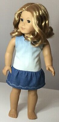 """Fit American Girl And Our Generation. Denim Dress ONLY 18"""" Doll Clothes."""