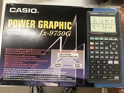 Casio Power Graphic Calculator FX-9750G Case Boxed Working 32KB Retro Vintage