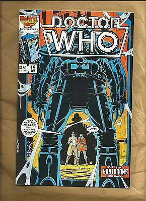 Doctor Who #19 vfn 1986 Marvel Comics scarce Dave Gibbons US comics