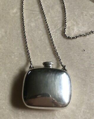 12cdf9cc6 Auth TIFFANY ELSA PERETTI SIGNED VINTAGE STERLING PERFIME BOTTLE NECKLACE  925
