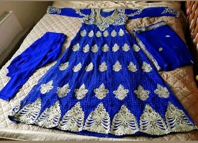 Asian Party Wear Blue Dress