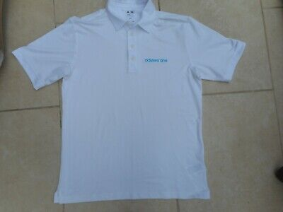 Adidas Climalite  Adizero Golf Polo Shirt Shirt White   Size Medium  * Excellent