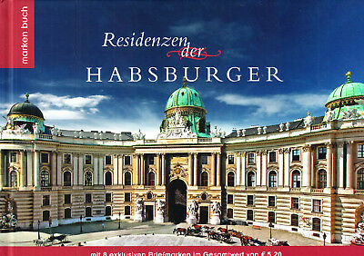 Briefmarkenbuch, Residenzen der Habsburger, mit 8 exclusiven Briefmarken,