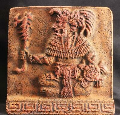 AZTEC GOD OF DEATH & REINCARNATION tomb carving relief ancient replica