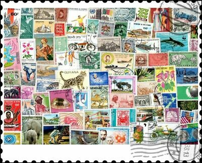 One stamp per Country : 100 Different Stamps Collection